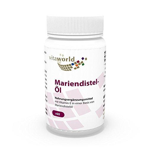 Vita World Mariendistelöl 1000mg + Vitamin E 10mg 60 Kapseln Apotheken Herstellung