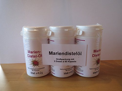 Mariendistelöl & Vitamin E 3er-Pack (60 Kapseln p. Dose)