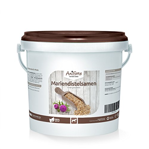 AniForte Mariendistelsamen grob gemahlen 1k g - Naturprodukt für Pferde