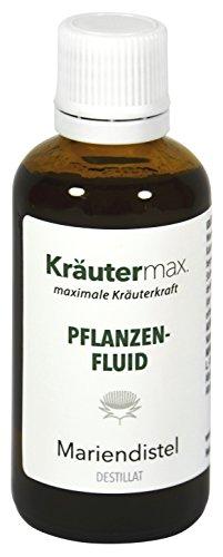 Kräutermax Mariendistel Tropfen hochdosiert 1 x 50ml Silybum Marianum Samen Extrakt